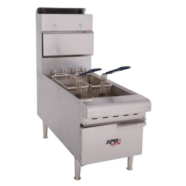 APW Wyott APW-F15C Full Pot Countertop Gas Fryer