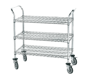 Cart, Bussing Utility Transport, Metal Wire