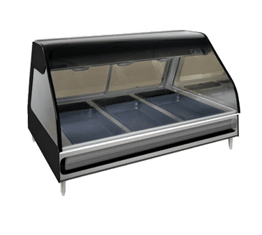 Alto-Shaam ED2-48/P-BLK Halo Heat® Heated Display Case…