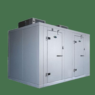 AmeriKooler DW061277F-4/8-SC Indoor Two (2) Compartment Walk-In Cooler