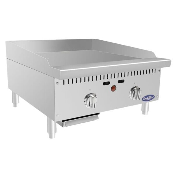 """Atosa USA, Inc. ATTG-24, HD 24"""" Thermo-Griddle with Total 50,000 B.T.U. (with 1″ Griddle Plate)"""