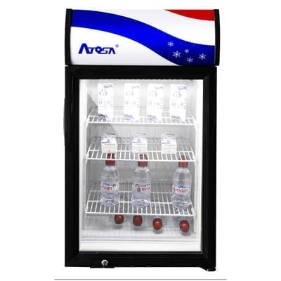 Atosa USA, Inc. CTD-3S Refrigerated 1 Door Glass Countertop Display Merchandiser