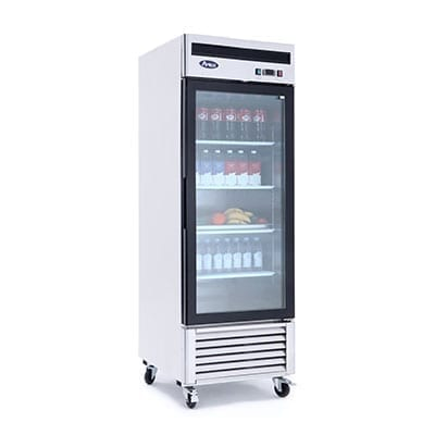 Atosa USA, Inc. MCF8705GR, Bottom Mount (1) Glass Door Refrigerator S/S In/Out