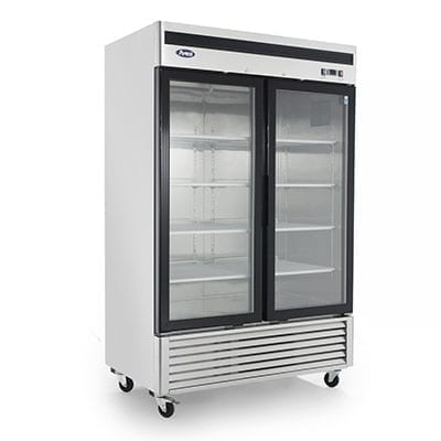 Atosa USA, Inc. MCF8707GR, Bottom Mount (2) Glass Door Refrigerator S/S In/Out