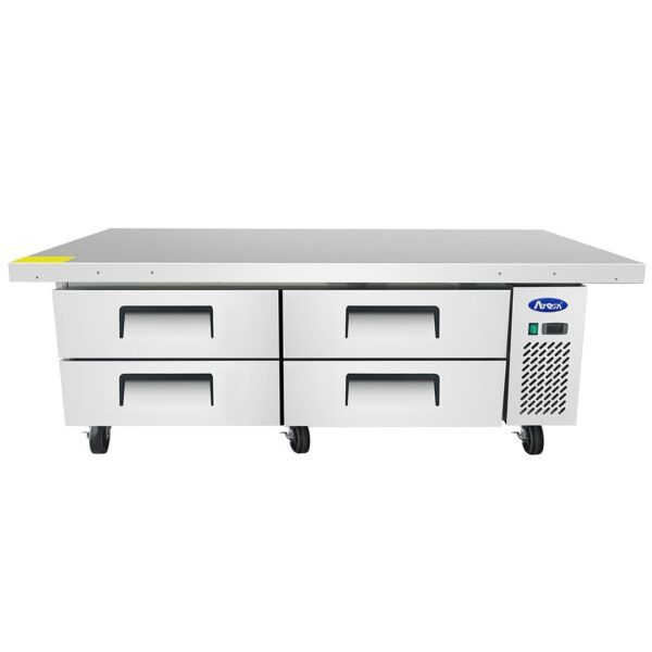 """Atosa USA, Inc. MGF8454GR, 76"""" Extended Top Chef Base with 72"""" Cabinet"""