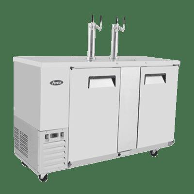 "Atosa USA, Inc. MKC58GR, 58"" Keg Cooler -S/S-with 2 Dual Tap Towers"