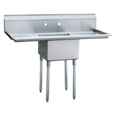 """Atosa USA, Inc. MRSA-1-D, One Comp. Sink, 18"""" Right and Left Drainboards"""