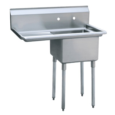 "Atosa USA, Inc. MRSA-1-L, One Comp. Sink, 18"" Left Drainboards"
