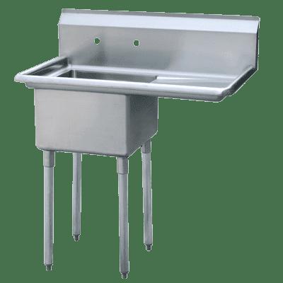 "Atosa USA, Inc. MRSA-1-R, One Comp. Sink, 18"" Right Drainboards"