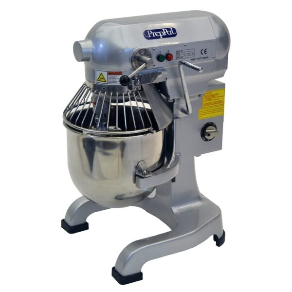 Atosa USA, Inc. PPM-10, 10 Quart Planetary Mixer, Gear Driven w/Timer, S/S Bowl and Safety Guard. Includes Wire Whip, Dough Hook and Flat Beater