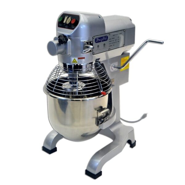 Atosa USA, Inc. PPM-20, 20 Quart Planetary Mixer, Gear Driven w/Timer, S/S Bowl and Safety Guard. Includes Wire Whip, Dough Hook and Flat Beater