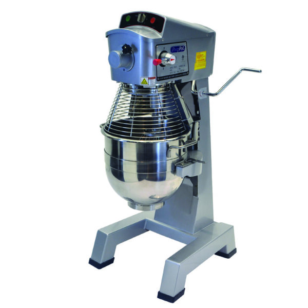 Atosa USA, Inc. PPM-30, 30 Quart Planetary / Floor Mixer, Gear Driven w/Timer, S/S Bowl and Safety Guard. Includes Wire Whip, Dough Hook and Flat Beater