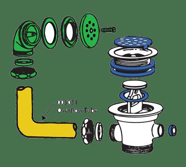 BK Resources 005031 Overflow Tube
