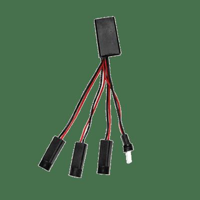 BK Resources 06001002 Power Splitter, 3-way, 1 male …