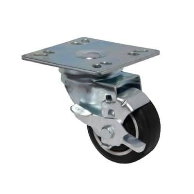 BK Resources 3SBR-UP4-PLY-PS4 Caster Kit, 3″ diameter swivel…