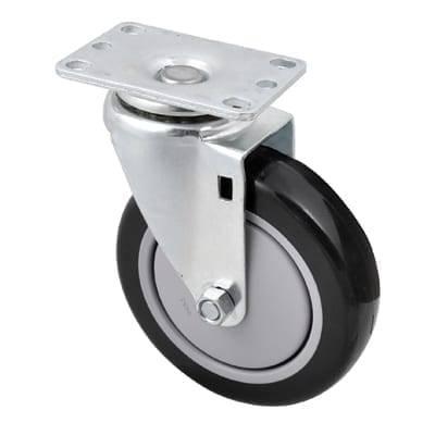 BK Resources 5SBR-1PT-PLY-TLB Caster, 5″ diameter swivel pla…