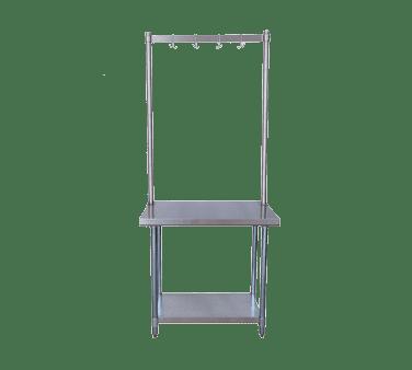BK Resources APR-48 Pot Rack, table mount, 48″W x …