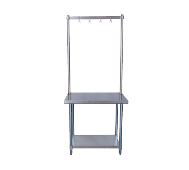 BK Resources APR-60 Pot Rack, table mount, 60″W x …