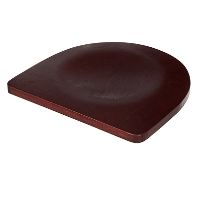 BK Resources BK-BWS-DM Seat, wood, dark mahogany