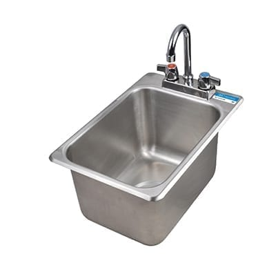 BK Resources BK-DIS-1014-10-P-G Drop-In Sink, one compartment,…