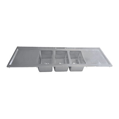 BK Resources BK-DIS-1014-3-18T Drop-In Sink, three compartment