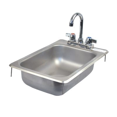 BK Resources BK-DIS-1014-5D-P-G Drop-In Sink, one compartment