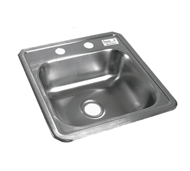 BK Resources BK-DIS-1515 Drop-In Sink, one compartment,…