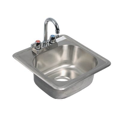 BK Resources BK-DIS-1515-P-G Drop-In Sink, one compartment