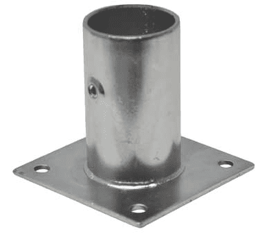 BK Resources BK-WMLS-WP Leg Socket, with Plate