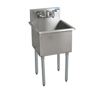 BK Resources BK8BS-1-24-14 Budget Sink, one compartment