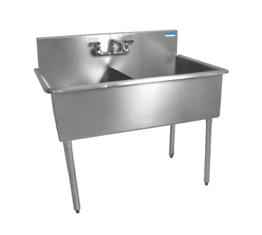 BK Resources BK8BS-2-24-12 Budget Sink, two compartment