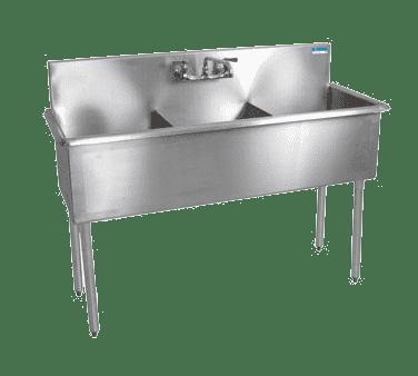 BK Resources BK8BS-3-18-12 Budget Sink, three compartment