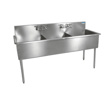 BK Resources BK8BS-3-24-12 Budget Sink, three compartment