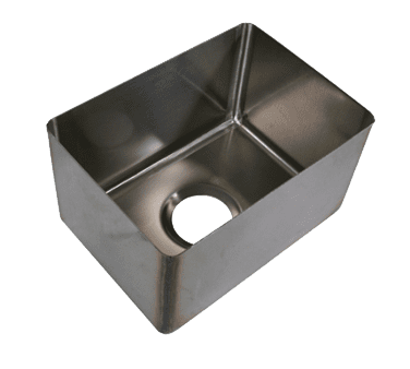BK Resources BKFB-1618-14-16 Weld-In Sink, one compartment