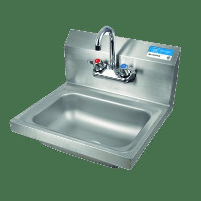 BK Resources BKHS-W-1410-P-G Hand Sink, wall mount