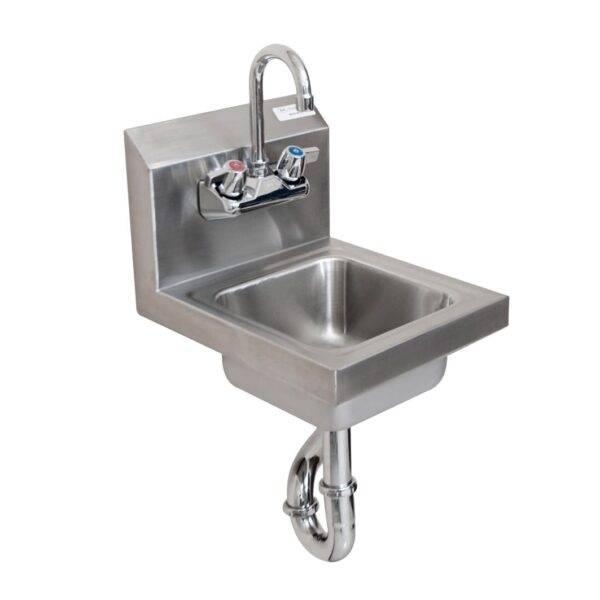 BK Resources BKHS-W-SS-PT-G Space Saver Hand Sink, wall mount