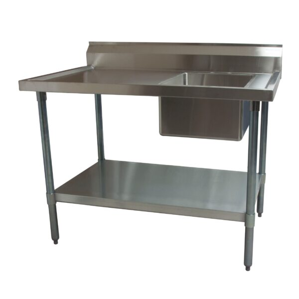 BK Resources BKMPT-3048S-R Work Table with Prep Sink