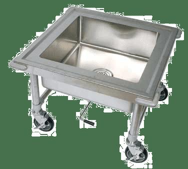 BK Resources BKS-1-SK-20-8-ME Soak Sink, mobile, 26-7/8″W x …