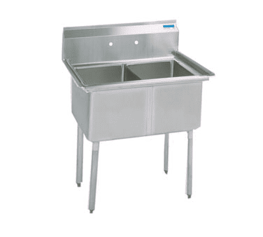 BK Resources BKS-2-1620-12 Sink, two compartment, 37″W x …