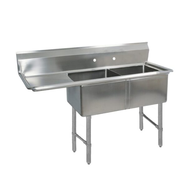 BK Resources BKS-2-1620-12-18LS Sink, two compartment, 52-1/2″…