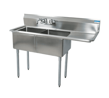 BK Resources BKS-2-1620-12-18R Sink, two compartment, 52-1/2″…