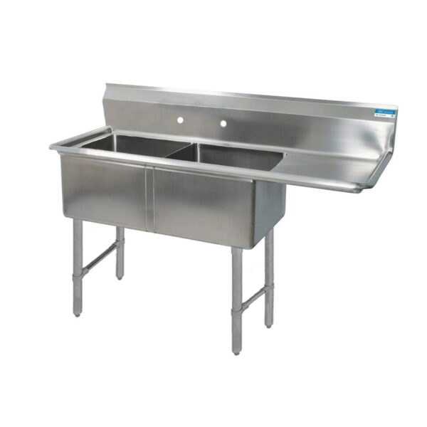 BK Resources BKS-2-1620-12-18RS Sink, two compartment, 52-1/2″…