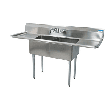 BK Resources BKS-2-1620-12-18T Sink, two compartment, 68″W x …