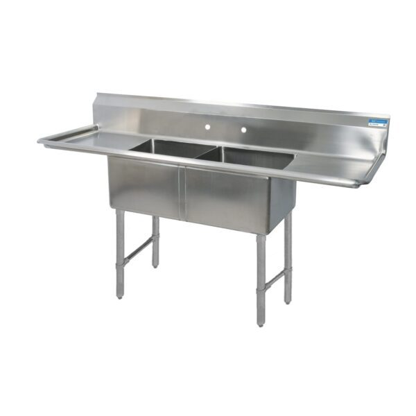 BK Resources BKS-2-1620-12-18TS Sink, two compartment, 68″W x …