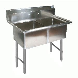 BK Resources BKS-2-1620-12S Sink, two compartment, 37″W x …