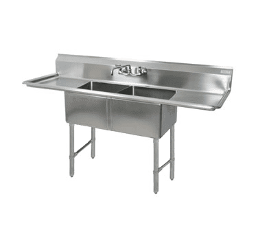 BK Resources BKS-2-18-12-18T Sink, two compartment