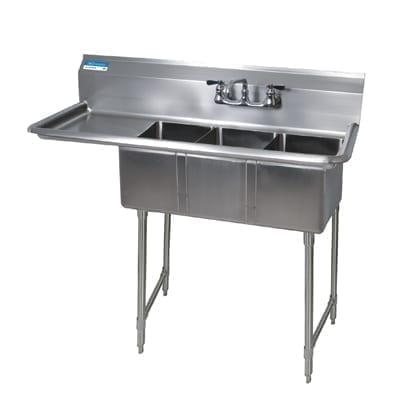BK Resources BKS-3-1014-10-15LS Convenience Store Sink