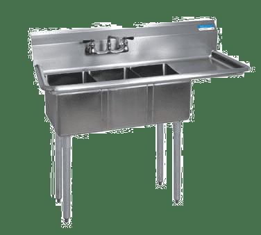 BK Resources BKS-3-1014-10-15R Convenience Store Sink