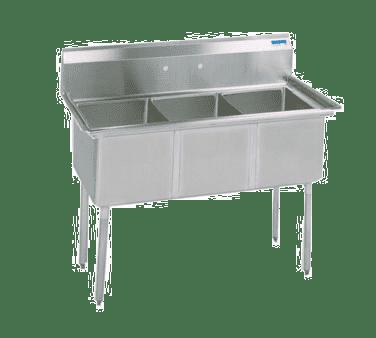 BK Resources BKS-3-1620-12S Sink, three compartment