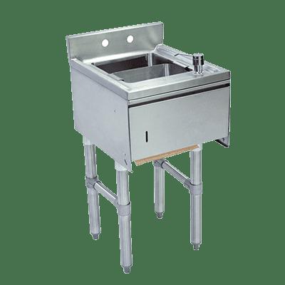 BK Resources BKUBS-1012HST218SPGS Slimline Underbar Dump Sink, 1…